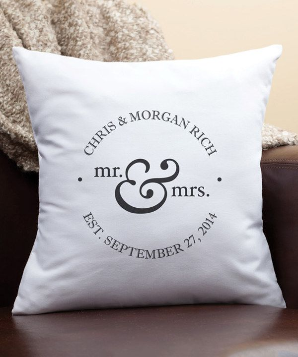Look at this 'Mr. & Mrs.' Personalized Pillow on #zulily today!
