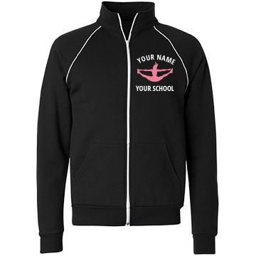 Cheer School Custom | Cheerleaders! Customize cute cheer jackets with your name and school name. Wear these awesome and comfy jackets to school, practices, games and more. Any cheer girl will love this custom jacket.