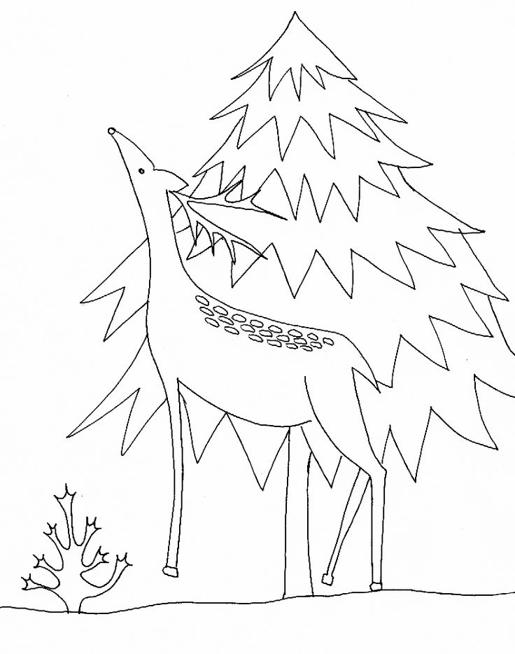 Coloriage de Noël sapin et renne - Noel Tête à modeler | Coloriage noel, Renne de noel et Coloriage
