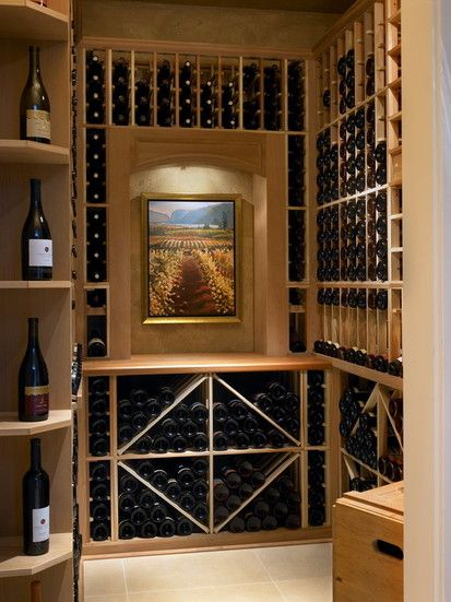 While At Chil Design Group, Contemporary Wine Cellar