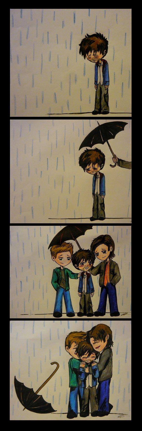 Awesome Fanart - Supernatural - Sam - Dean - Castiel