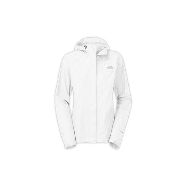 The North Face Women's Venture Jacket ($99) ❤ liked on Polyvore featuring activewear, activewear jackets, white, columbia sportswear, women activewear and the north face