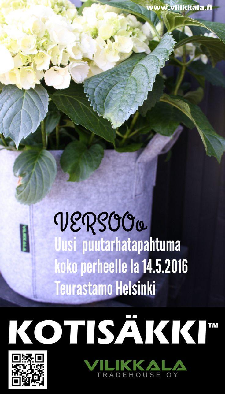 Store your precious home items or use as a garden bag! #Kotisäkki #Versooo