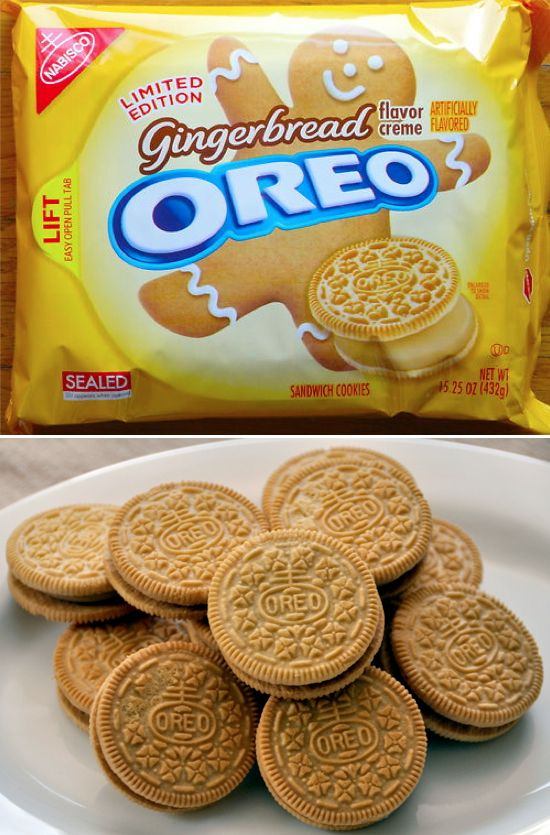 WHAT!?!? Gingerbread Oreos!! If I see these in a store I might buy every package! ;p Think of all the possibilities...Gingerbread Oreo Pie crusts, Gingerbread Oreo Cake pops,  Gingerbread Oreo fudge, Gingerbread Ice Cream Shakes......on & on it goes.