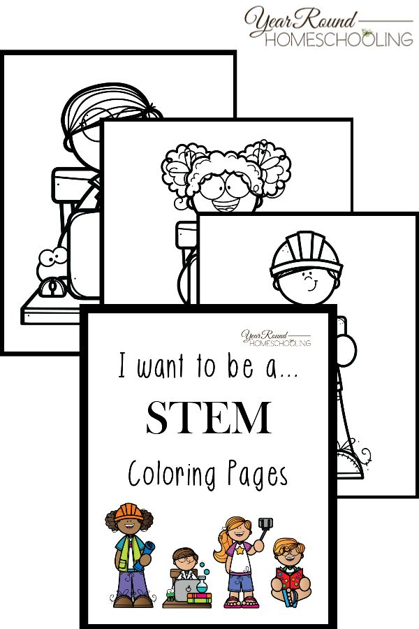 I Want To Be Stem Coloring Pages Homeschool Coloring Pages
