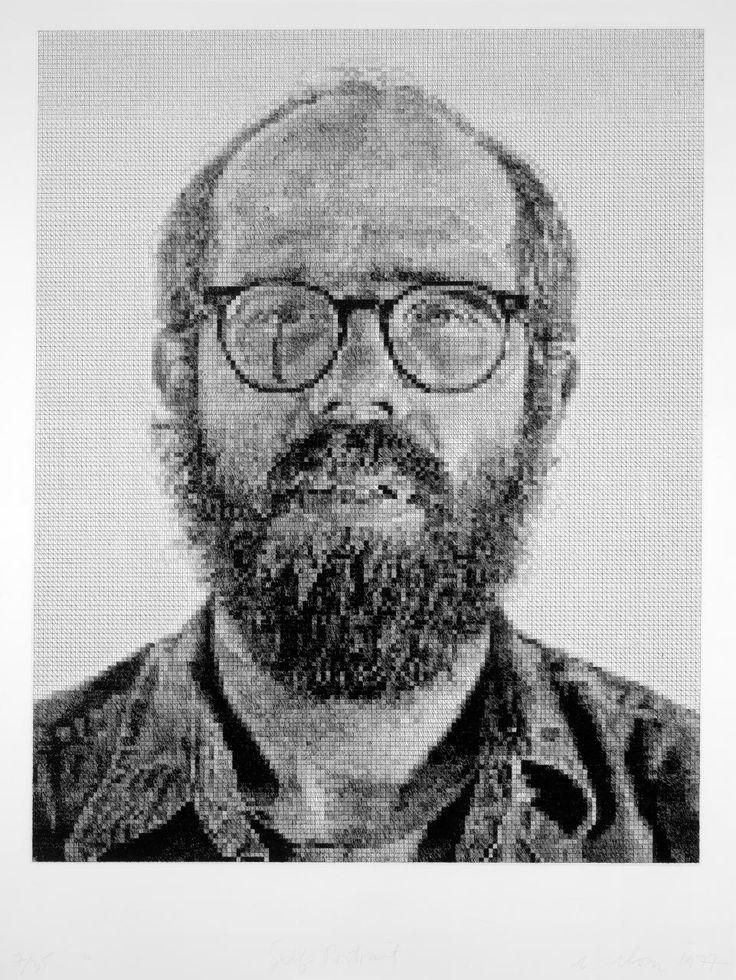 Chuck CLOSE  Self-portrait 1977