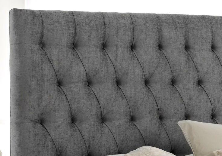 Kensington upholstered bed divan base and headboard casa for Divan bed base with headboard
