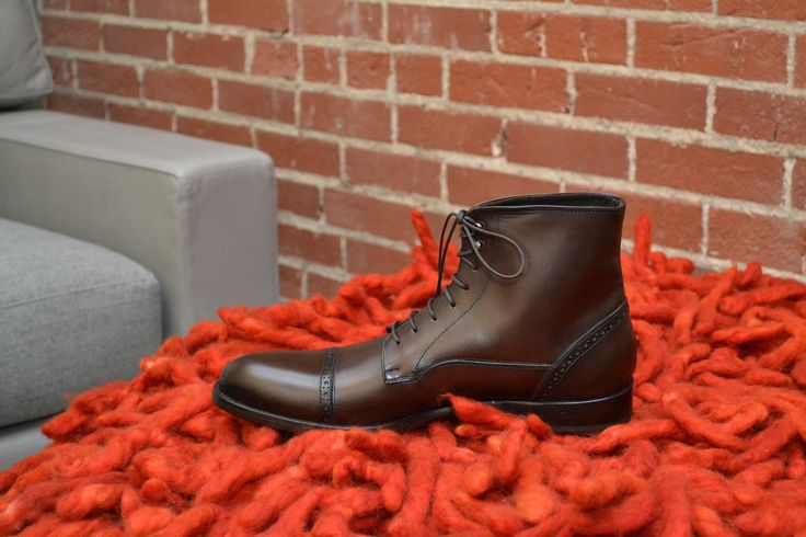 ANTONIO MAURIZI. Designer: Antonio Maurizi. BURNISHED BOOTS | perforated; leather lined; cap-toe. Never worn. This boot is burnished (gives variation in coloring to give shoe aged look) which is intentional: it adds character to the shoe. | eBay!