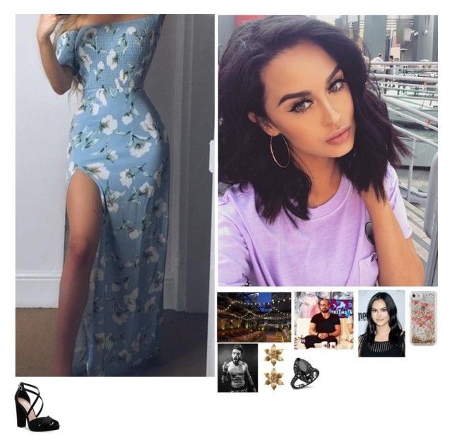 """🤘🏼Olivia 🤘🏼-Marty's Birthday Dinner"" by banks-on-it ❤ liked on Polyvore featuring La Perla, Kate Spade and Nina"