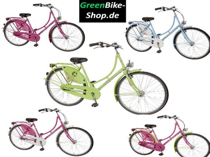 Hollandrad Holland Fahrrad 28 Zoll Damen Nostalgie grün pink NEU