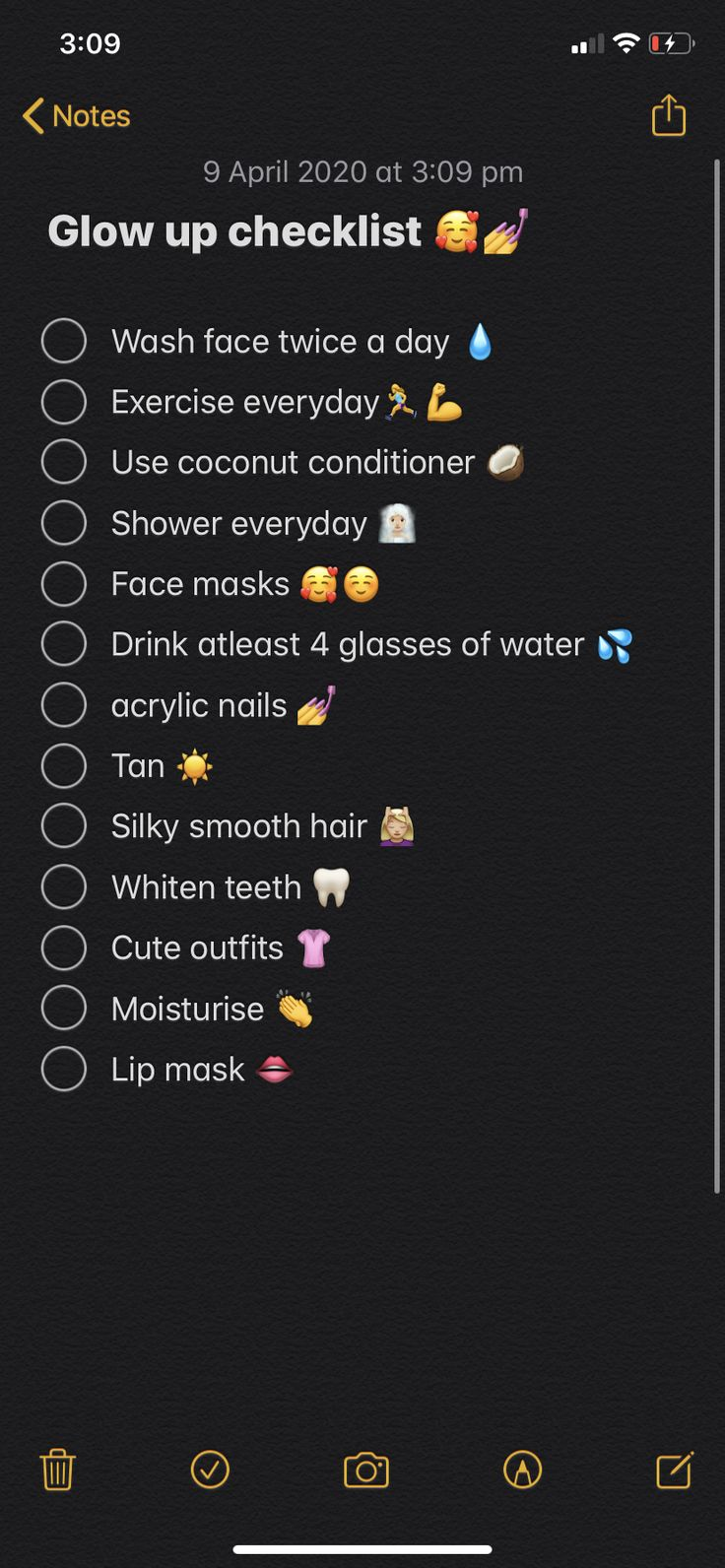 Glow up checklist glow up tips school routine for teens