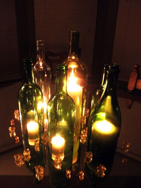 DIY Friday :  wedding diy features Wine Bottle Centerpiece Wine_Bottle_Centerpiece