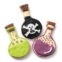 Poison bottle cookies.: Halloween Parties, King Arthur Flour, Parties Ideas, Cookies Cutters, Halloween Fal, Cookie Cutters, Turkey Legs, Beaker Cookies, Halloween Ideas