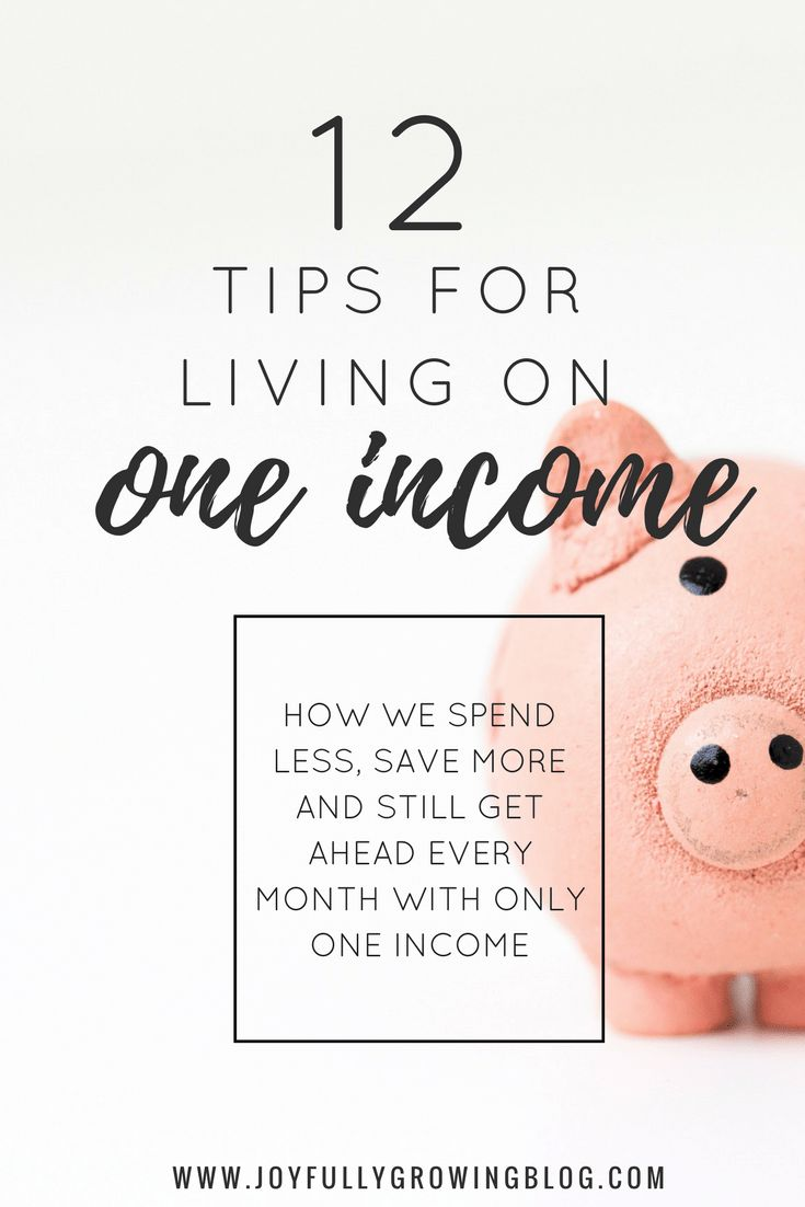 Looking for ways to save more and spend less each month? Checkout these 12 tips on how to live on one income! Plus a FREE monthly budget template! #budgettips #oneincome #savemoney