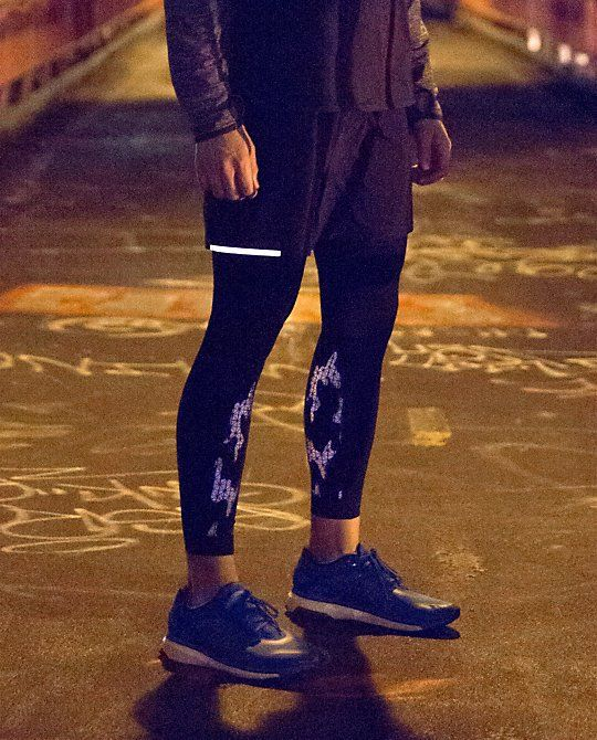 Surge Tight*Reflective | Jonesin' for a late night run? These bad boys have you covered. With sweat-wicking fabric, a lower leg reflective detail and irritation-averting flat seams, these cross-training tights were designed to help keep you comfortable and visible at all hours.