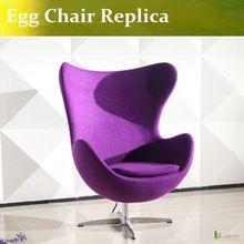 U-best фиолетовый стул-яйцо шерсть стул-яйцо современный дизайн мебель(China (Mainland))