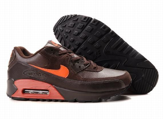 https://www.kengriffeyshoes.com/nike-air-max-90-brown-orange-p-794.html Only$70.85 #NIKE AIR MAX 90 BROWN ORANGE #Free #Shipping!