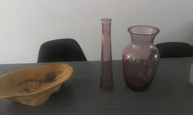 Net gekochte vazen in oud roze