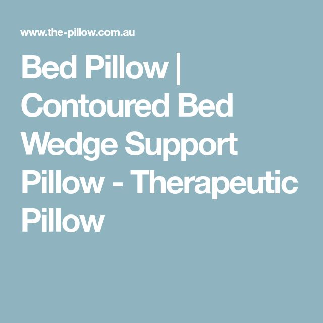 Bed Pillow | Contoured Bed Wedge Support Pillow - Therapeutic Pillow
