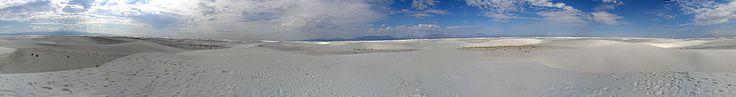 Desierto de Arenas Blancas, en Nuevo México, del que nos habló Angel Vallecillo