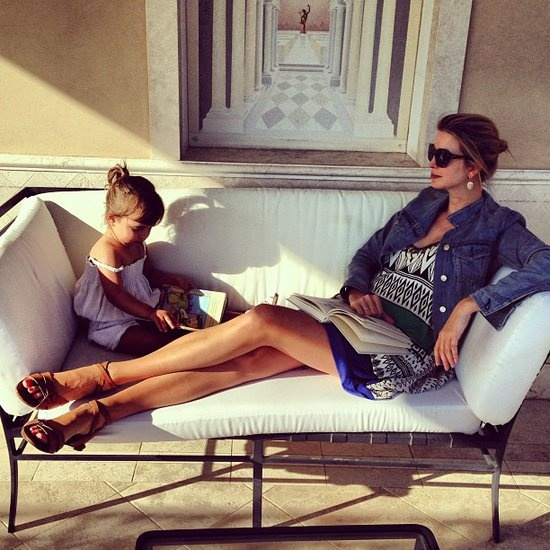 Cute Costars, Fatherly Love, and Model Mayhem Round Out the Weeks Celebrity Candids: Ivanka Trump shared this sweet snap while lounging with her daughter, Arabella. Source: Instagram user ivanktarump