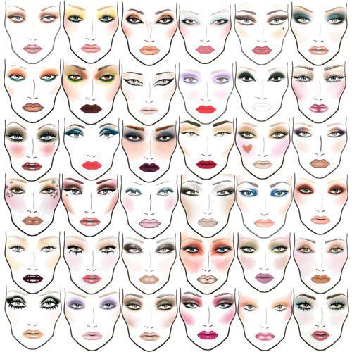 mac: Make Up, Mac Makeup, Face Charts, Beautiful, Makeup Ideas, Faces Makeup, Facechart, Makeup Looks, Mac Faces Charts