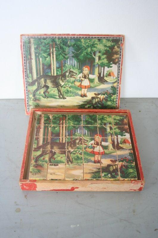 Oude blokkenpuzzle, sprookjes