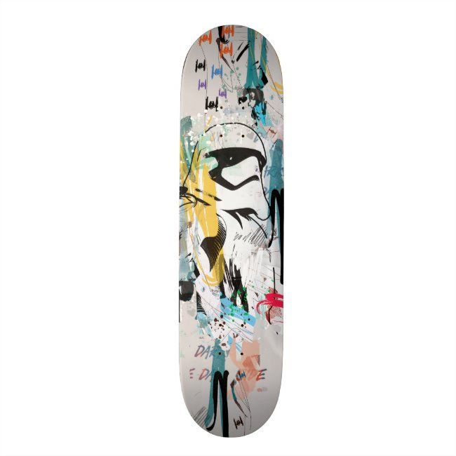 Stormtrooper Graffiti Collage Skateboard Zazzle Com In 2020 Stormtrooper Skateboard Star Wars Store