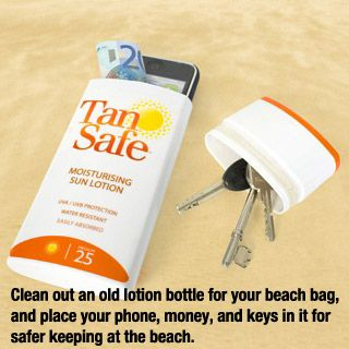 Nobody wants to steal your sun screen do they? Smart idea!