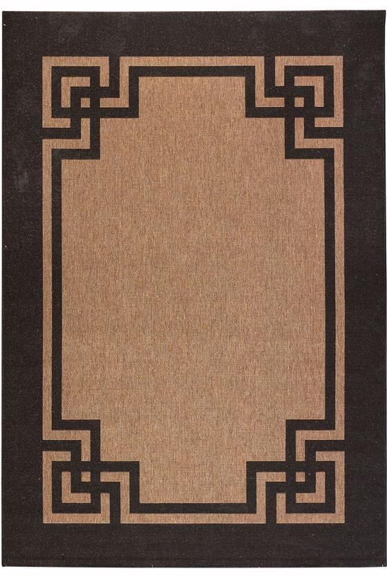 Martha stewart living deco frame all weather rug martha for All weather patio rugs