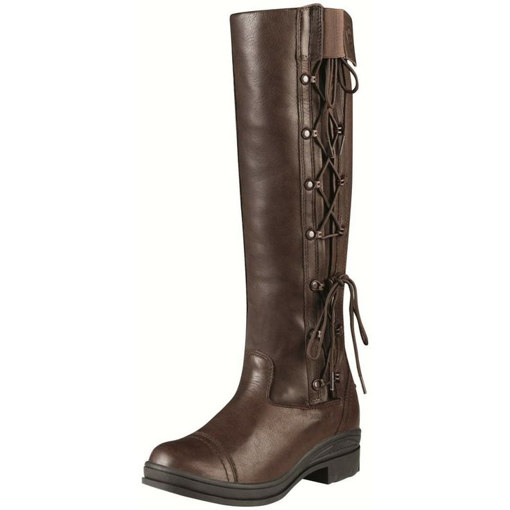Ariat® Glacier Riding Boot Chocolate - Ariat® Glacier Riding Boot Chocolate. The Ariat® Glacier Riding Boot is a waterproof boot, made with a full grain leather upper and a dri-lex plaid lining along with a Sympatex insulation for extra warmth. The Glacier boot features a gore tex bootie with a duratread out sole. The Glacier boot features ATS technology which consists of a moisture wicking sock liner, a gel cushioned fore foot, moulded foot bed, orthotic supports to support the arch of the…