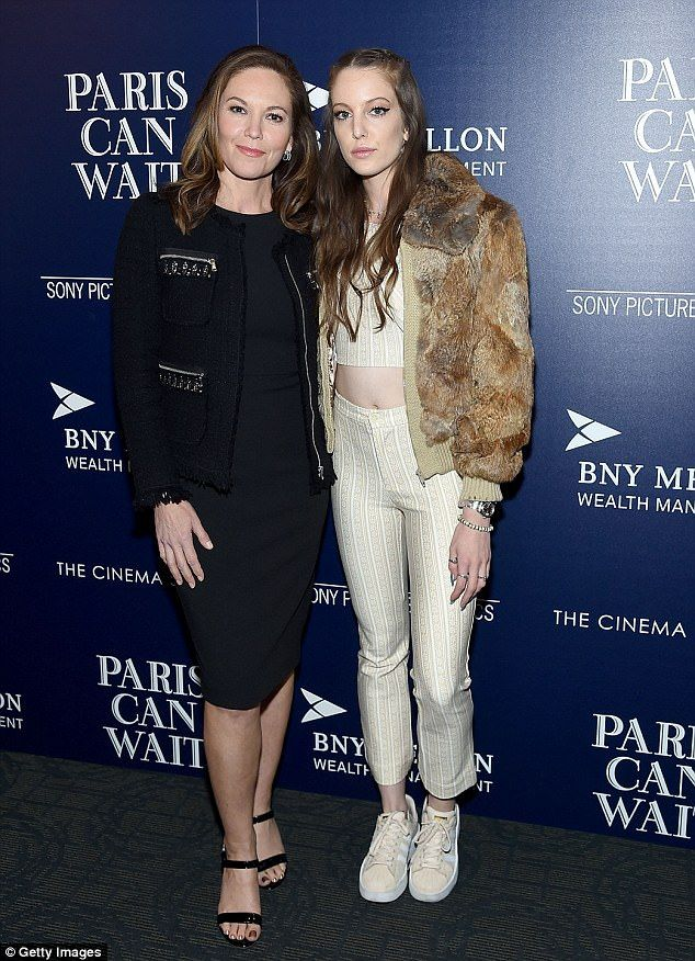 Ageless beauty! Diane Lane, 52, looked like she could pass for a much younger woman as she walked the red carpet with her daughter Eleanor Lambert on Thursday night