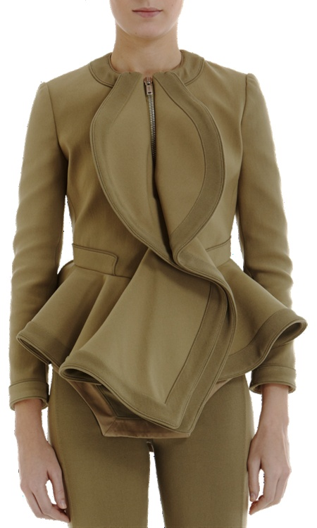 This Givenchy canvas peplum jacket is literally a piece of art.