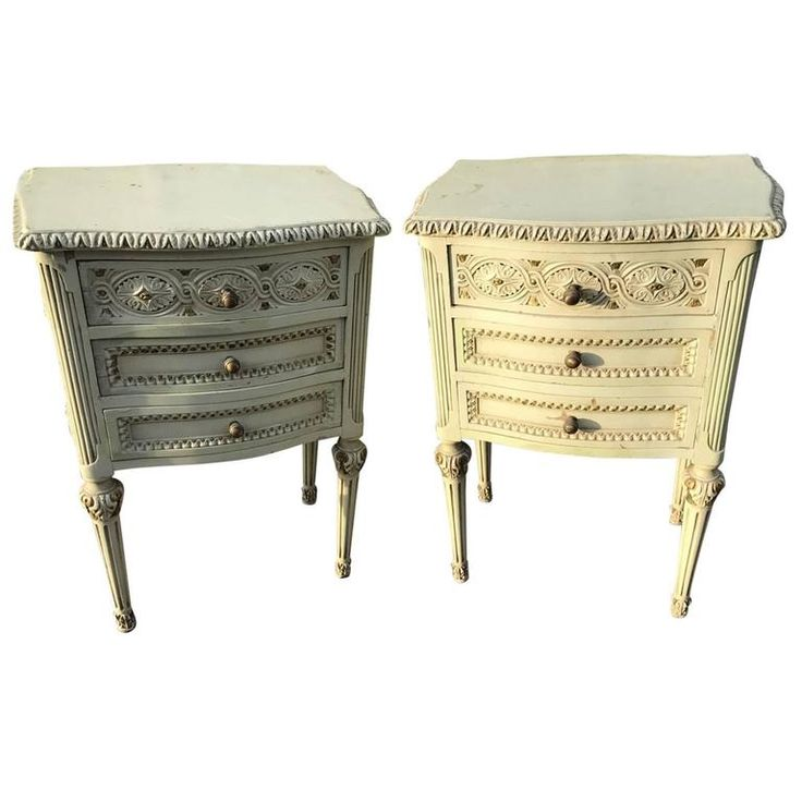 Pair of French Antique Bedside Tables | 1stdibs.com
