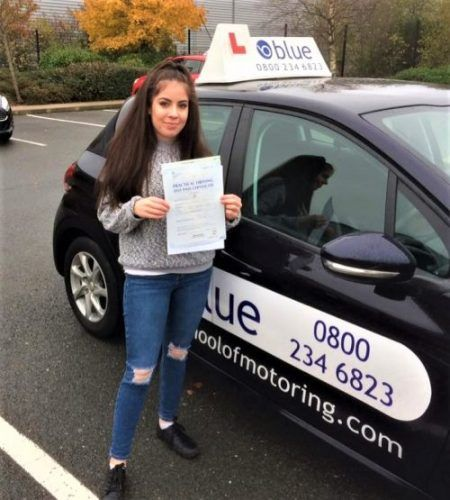 Carrie Lewis from Yateley passed driving test Farnborough in Hampshire - https://www.blueschoolofmotoring.com/blog/2017/11/29/carrie-lewis-from-yateley-passed-driving-test-farnborough-in-hampshire/ - https://www.blueschoolofmotoring.com/blog/2017/11/29/carrie-lewis-from-yateley-passed-driving-test-farnborough-in-hampshire/ - https://www.blueschoolofmotoring.com/driving-lessons-instructor-img/Yateley-Driving-Test-Pass-for-Carrie-Lewis-e1511953954626.jpg - Congratulations to Ca