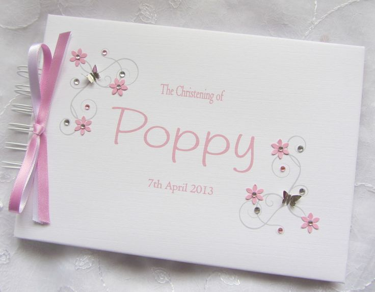 PERSONALISED CHRISTENING/ NAMING DAY /GUEST BOOK