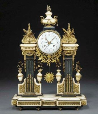 date unspecified A LATE LOUIS XVI ORMOLU-MOUNTED BLACK AND WHITE MARBLE MANTEL CLOCK  THE MOVEMENT BY NICOLAS-ALEXANDRE FOLIN  Price realised  GBP 4,780