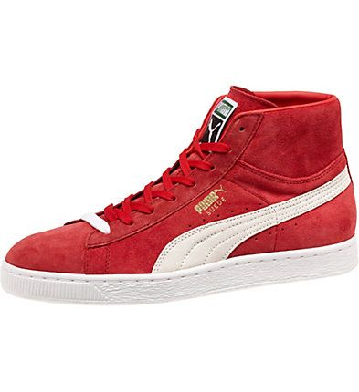 Suede Classic Mid Men's Sneakers: In 1968, the original PUMA Basket was  launched as a high top, leather basketball shoe. The PUMA Suede was its  identical ...