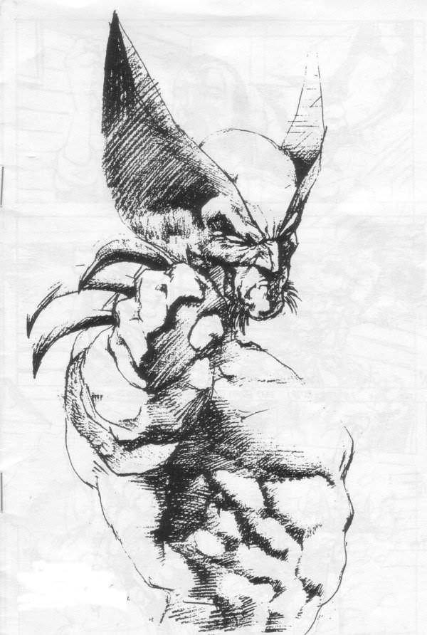Wolverine Pencil SketchArt Nerd Fury Xmen Comics Comics