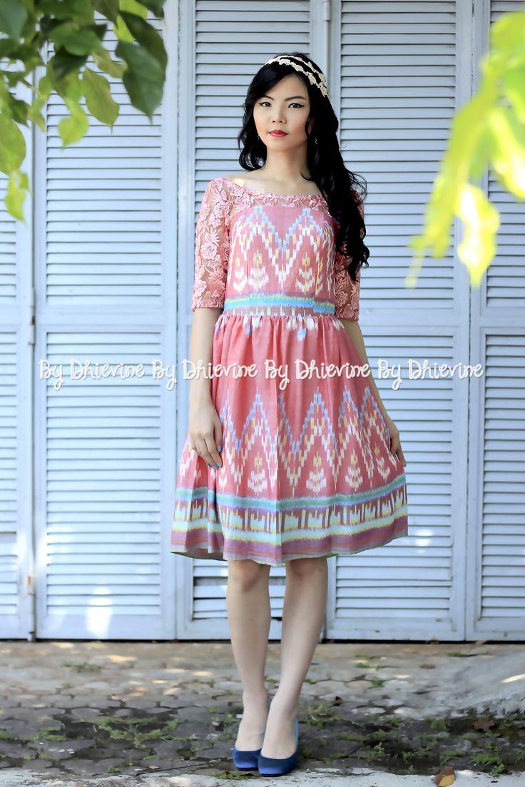 Ikat dress | Pendapa Ikat Jambon Dress | DhieVine | Redefine You