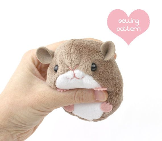 Printable sewing patterns to make kawaii pet rodent plush for Sewing templates for stuffed animals