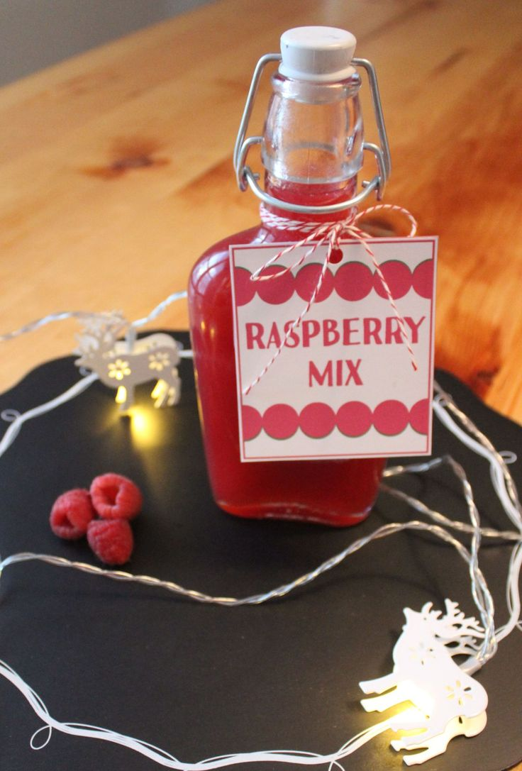 Raspberry Drink Mix - great for a quick raspberry martini or a raspberry bellini! thelittlesurprises.com