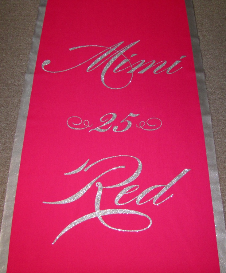17 Best Images About Glitter Wedding Aisle Runners On