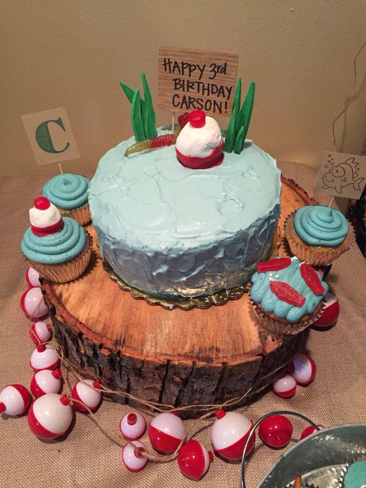 Best 25 gone fishing cake ideas on pinterest fishing for Fishing themed cake toppers