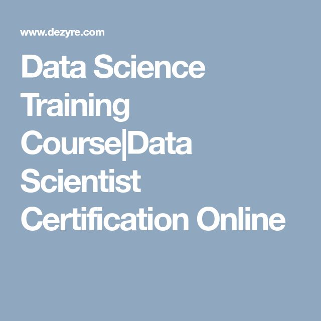 Data Science Training Course|Data Scientist Certification Online