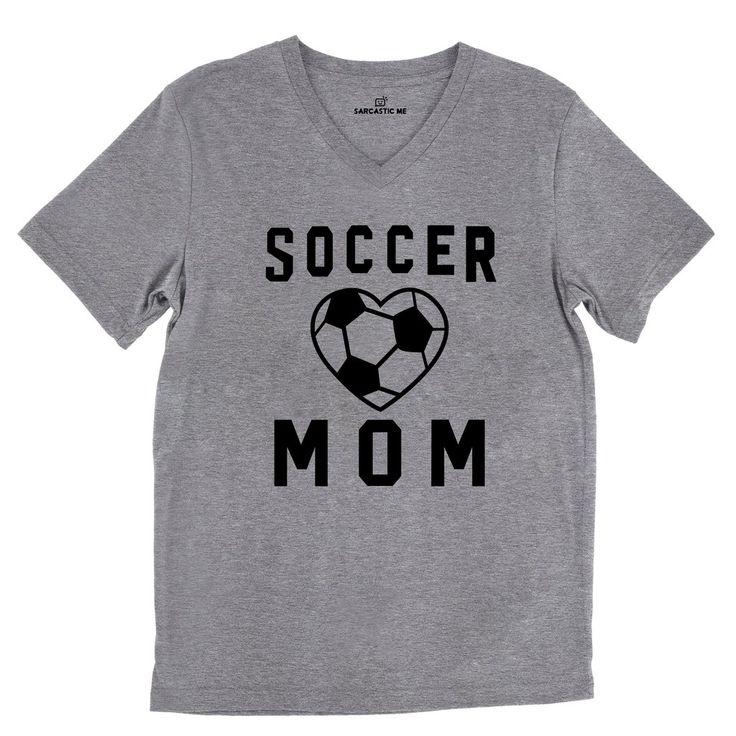 Soccer Mom Tri-Blend Gray Unisex V-Neck Tee | Sarcastic Me