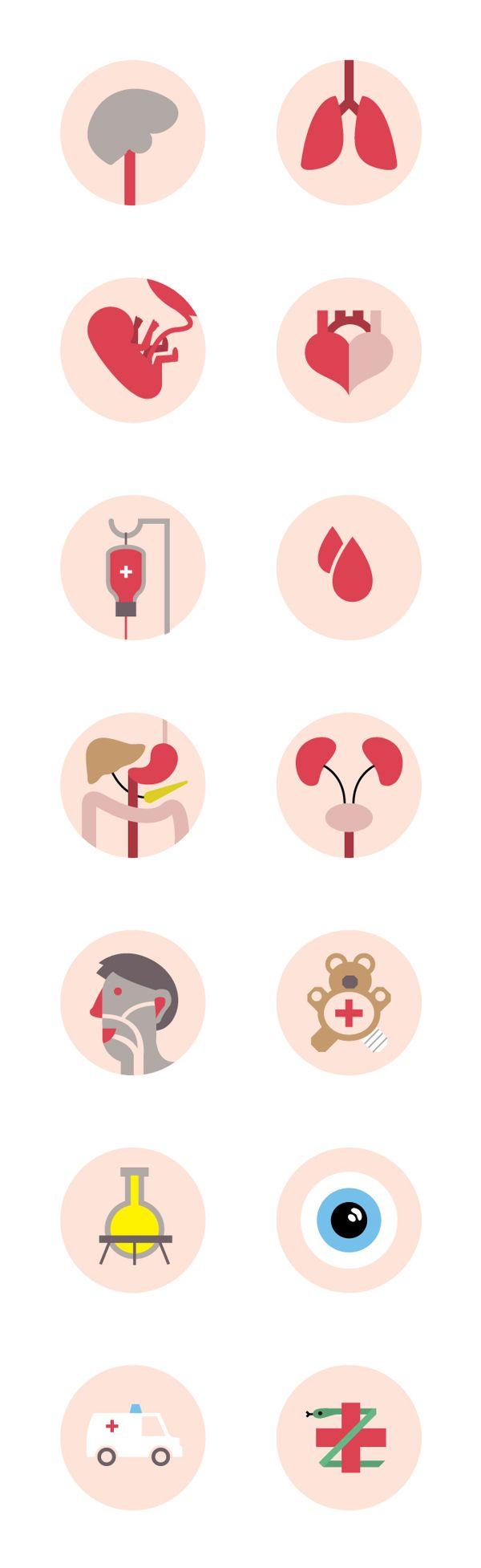Medical Icon Set by Pieter Frank de Jong, via Behance