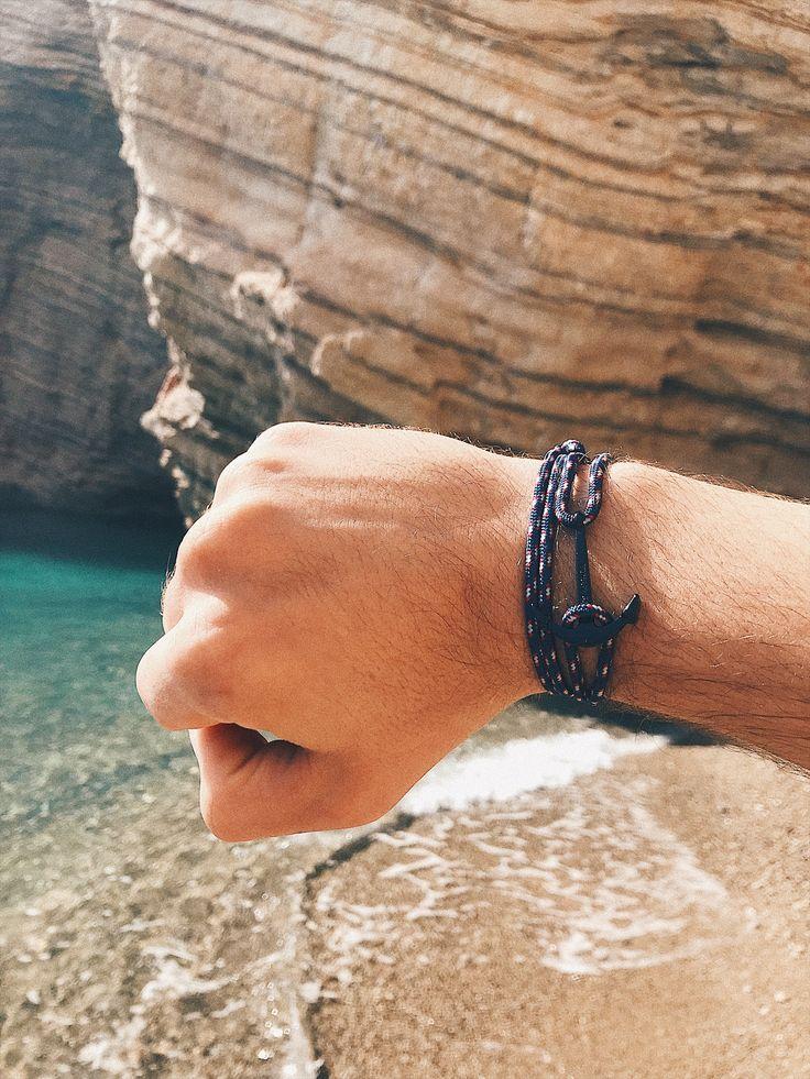 accessories for men anchor bracelet