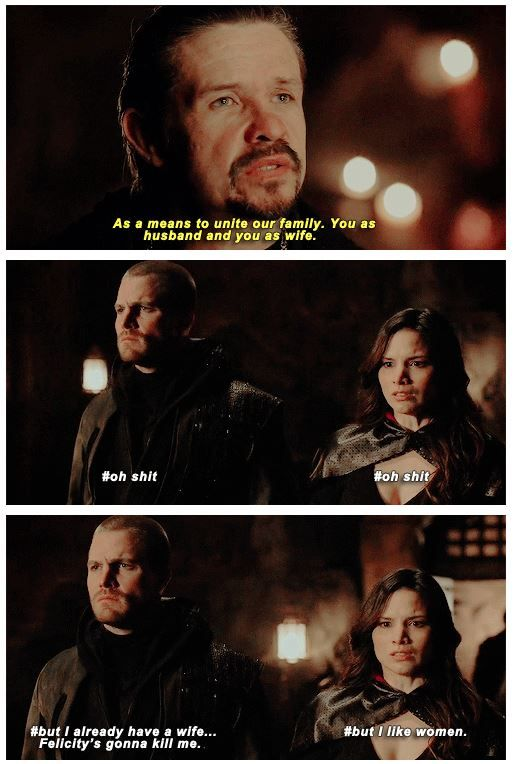 I think this was accurate for what was going through their minds. League of Assassins#Arrow #3x21