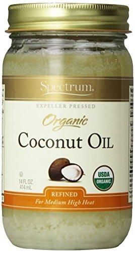 Spectrum Naturals Organic Virgin Coconut Oil Refined 14 Ounce